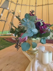 Flowers in the Musical Tipi