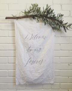 'Welcome to Our Forever' (calligraphy - chi borello)